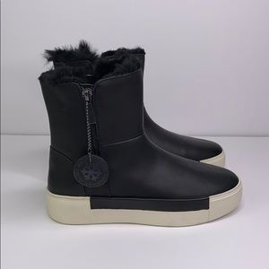 J/SLIDES Faux Fur-Lined Waterproof Leather Boots 6
